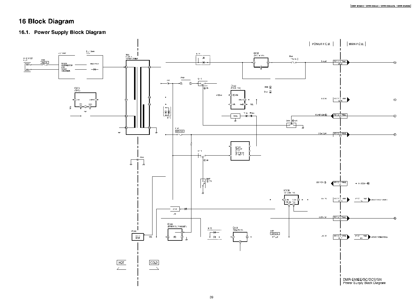 E55p Dmr Panasonic Schematic Diagram Power Supply Board