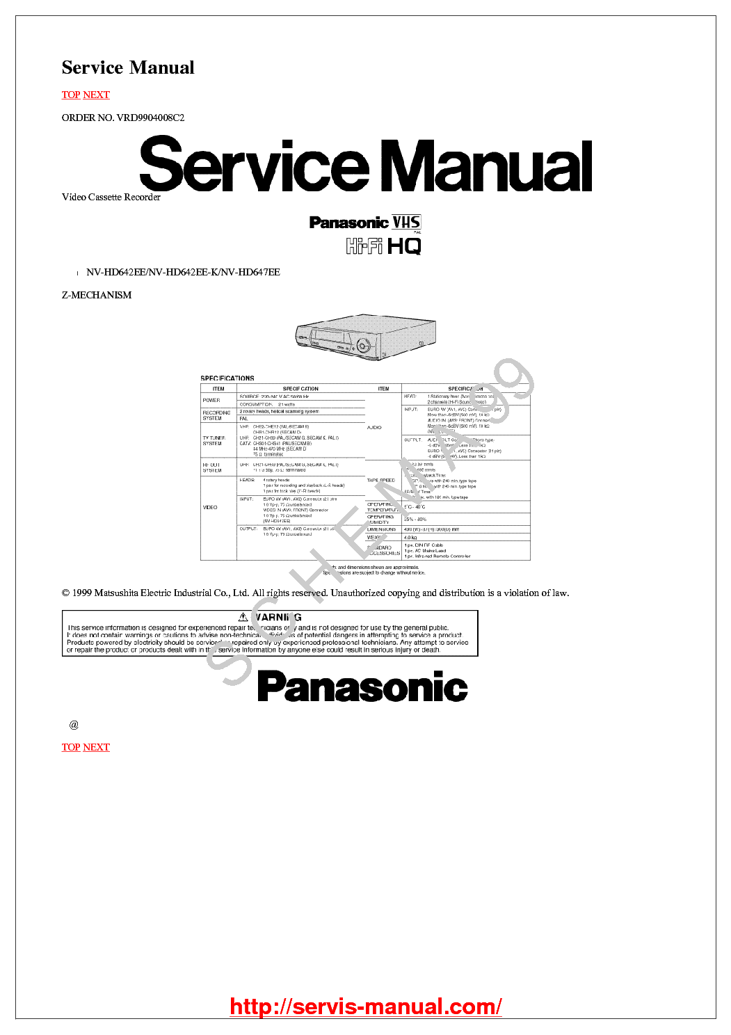 panasonic sd bmt1001 english manual