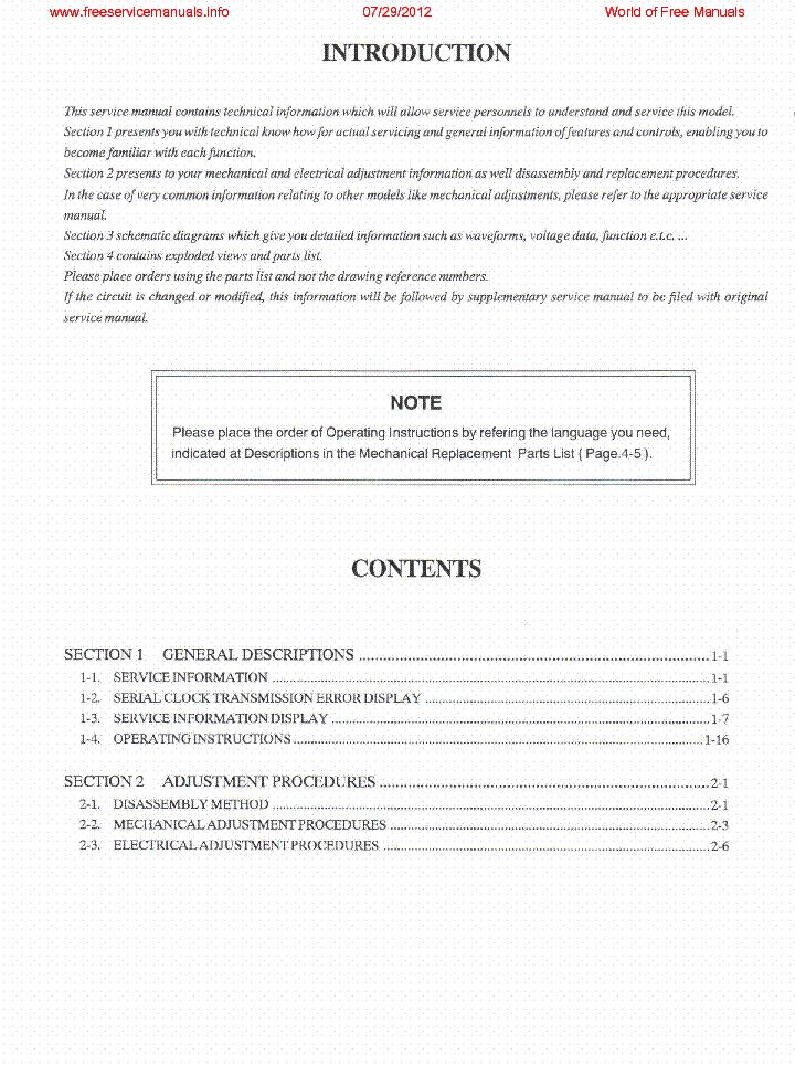 PANASONIC NV-SD22 NV-SD25 VW-PDC1E service manual (2nd page)