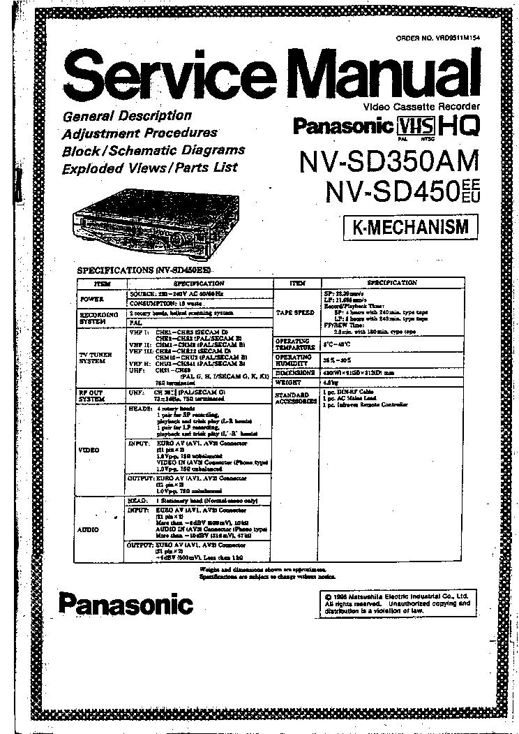 PANASONIC NV-SD350AM