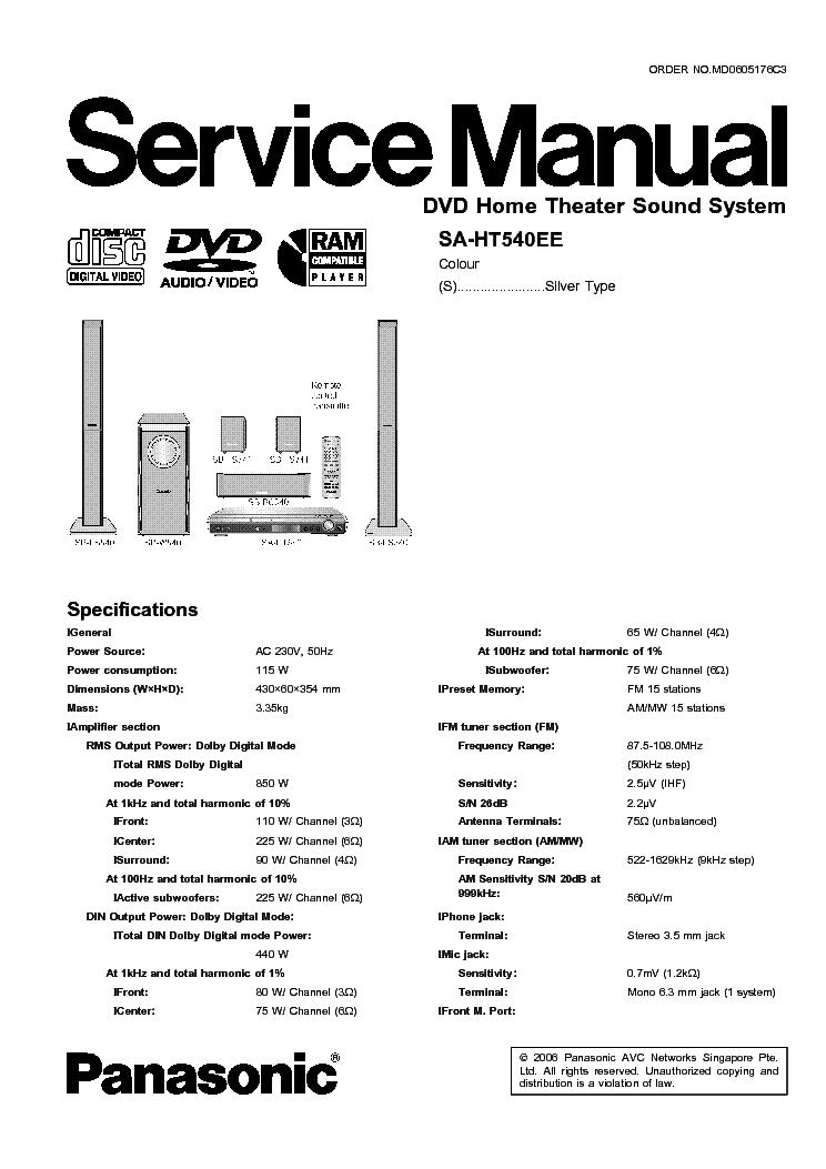 Panasonic SA-HT540EE