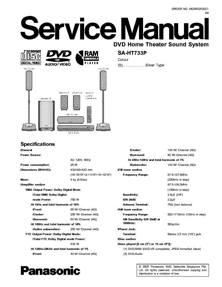 panasonic dvd cv51 dvd player service manual download schematics rh elektrotanya com panasonic home theater sa-ht75 manual manual panasonic sa-ht75 em portugues