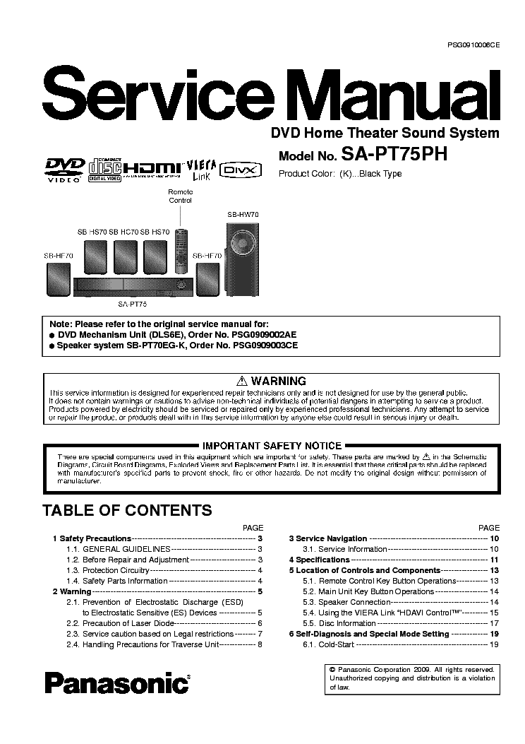 panasonic dvd a470en service manual download schematics eeprom rh elektrotanya com panasonic sa-ht75 specifications manual panasonic sa-ht75 em portugues