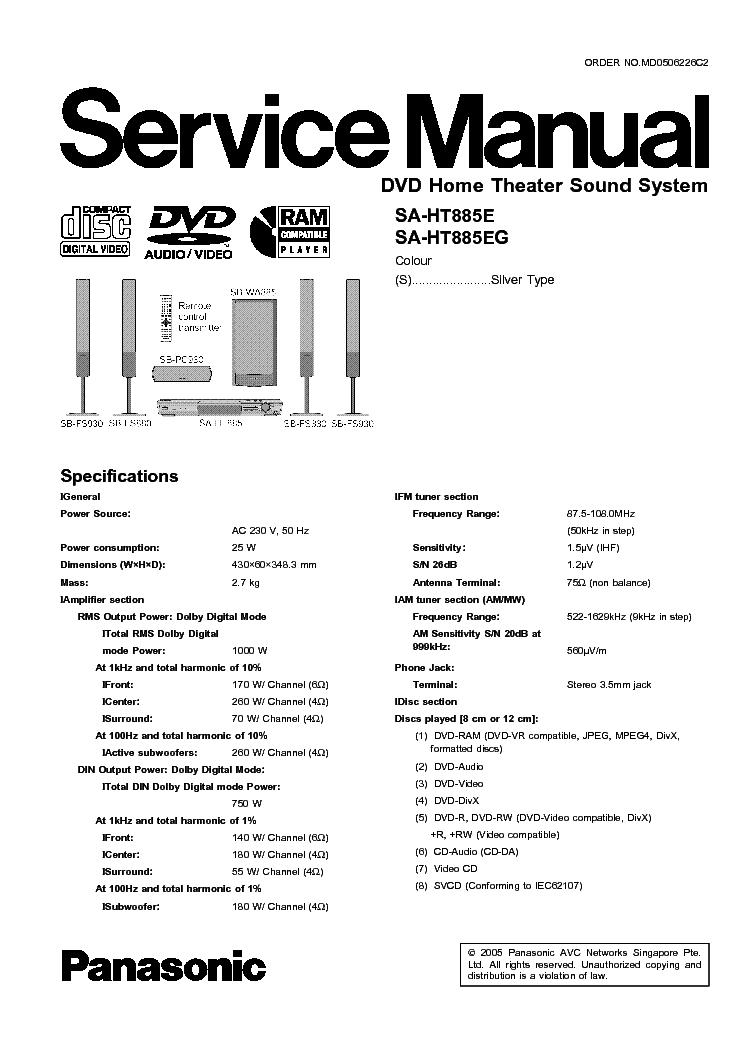 panasonic sa ht70 sch service manual free download. Black Bedroom Furniture Sets. Home Design Ideas