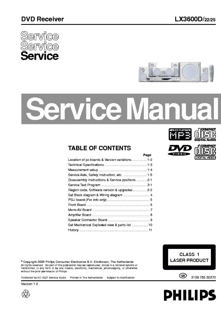philips lx3600d service manual download schematics eeprom repair rh elektrotanya com Philips Product Manuals Philips Schematics