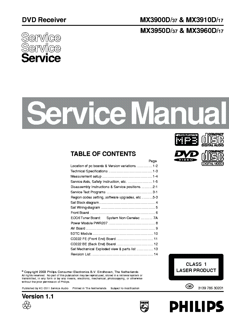 philips mx3900d mx3910d mx3950d mx3960d 313978530201 ver 1 1 service rh elektrotanya com Philips Product Manuals Philips Schematics