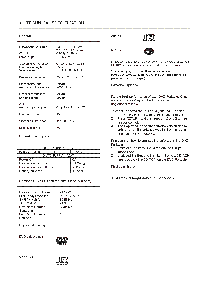 PHILIPS PET-708 service manual (2nd page)