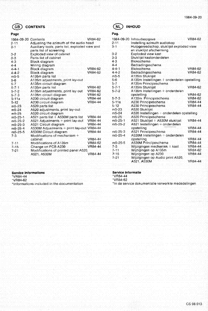 PHILIPS VR2324 VIDEO-2000 service manual (2nd page)