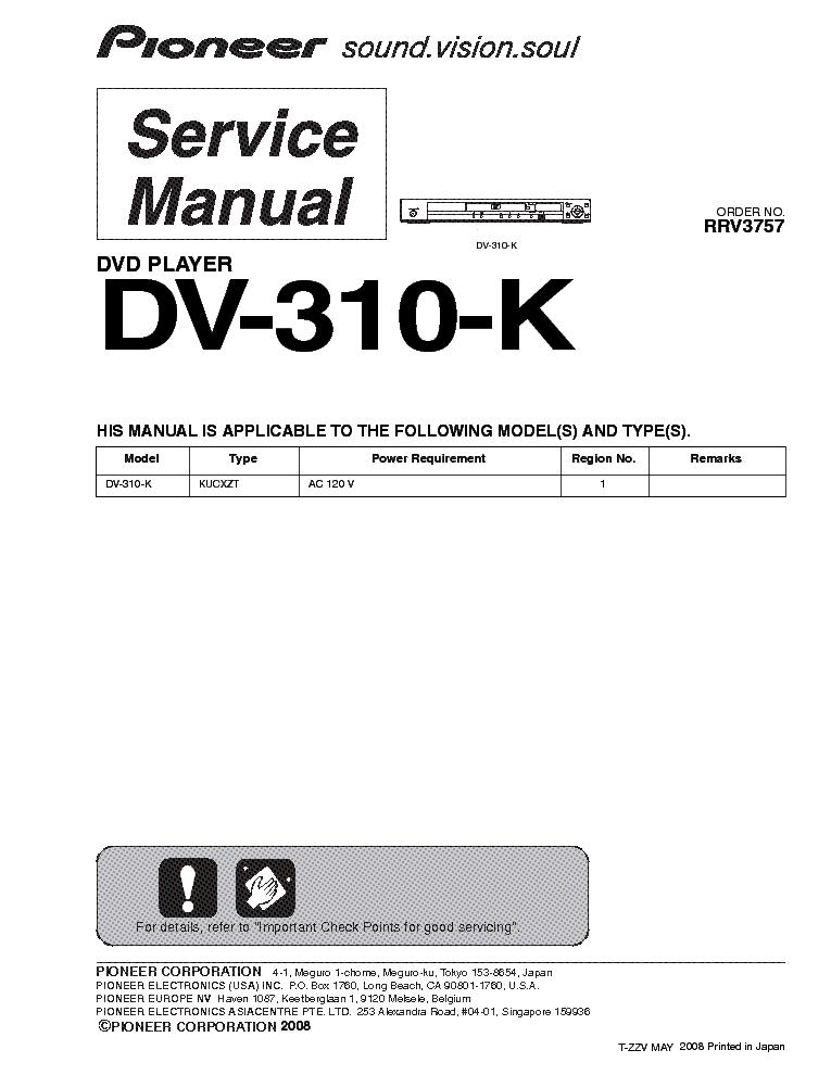 pioneer dv 310 k sm service manual download schematics eeprom rh elektrotanya com Pioneer Clip Art Pioneer Clip Art