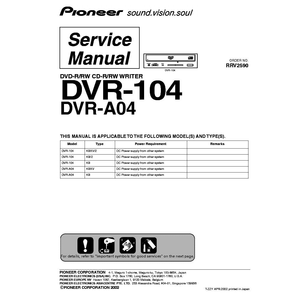 PIONEER DVR-104 DRIVERS DOWNLOAD FREE