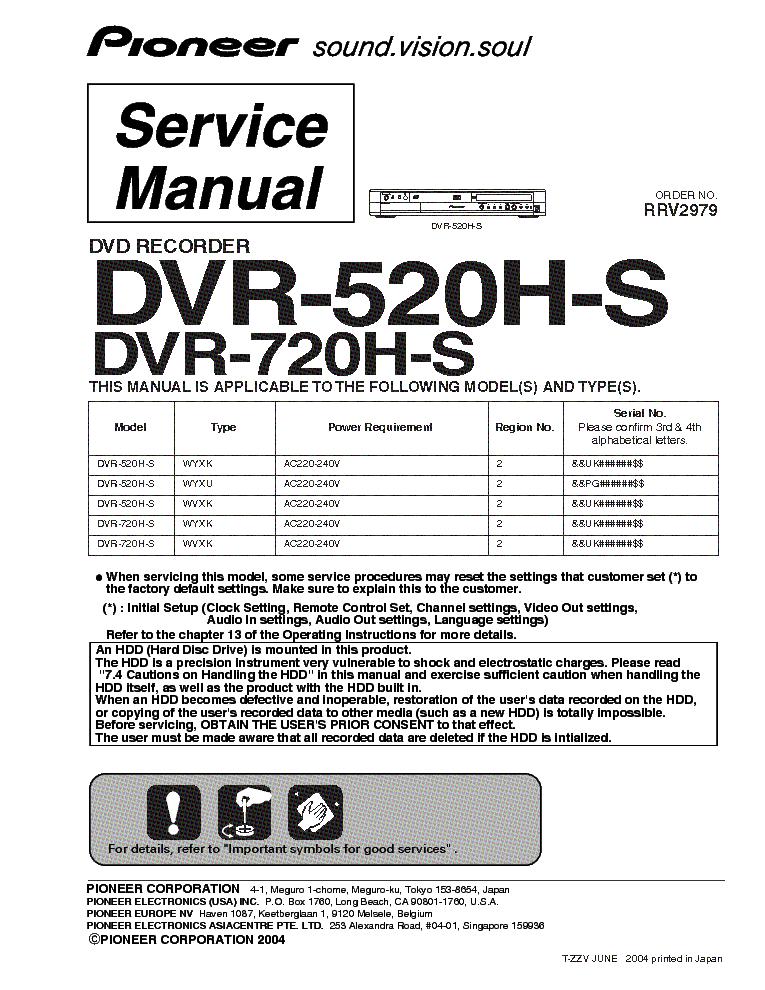 Инструкция скачать pioneer dvr 560h k