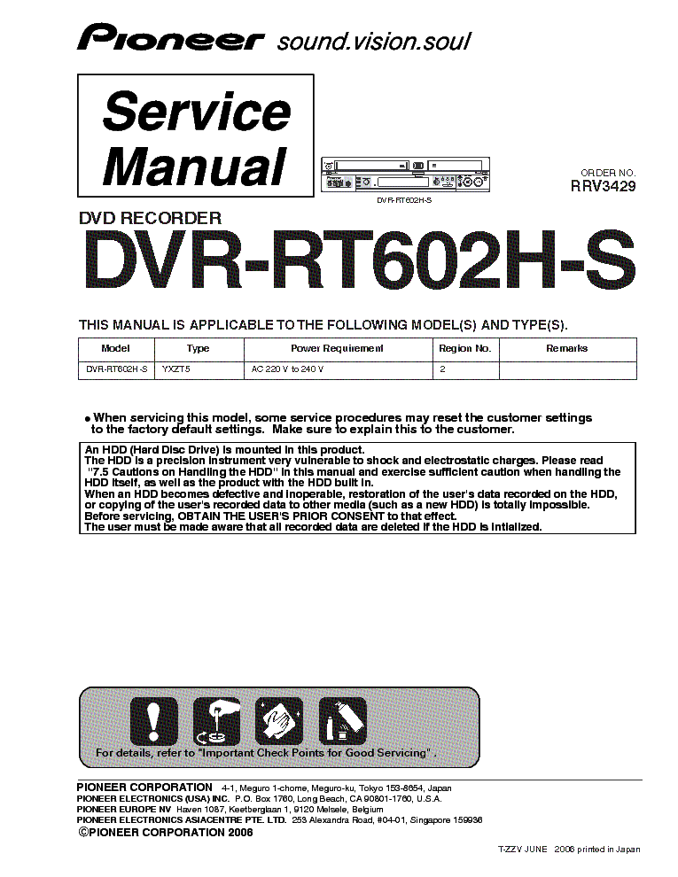 Pioneer DVR-RT602H-S Recorder Drivers for Mac Download