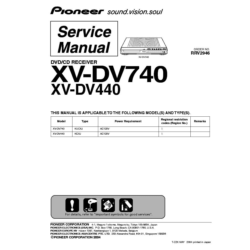 pioneer xv dv740 440 service manual download schematics eeprom rh elektrotanya com subaru xv service manual download xv dv303 service manual