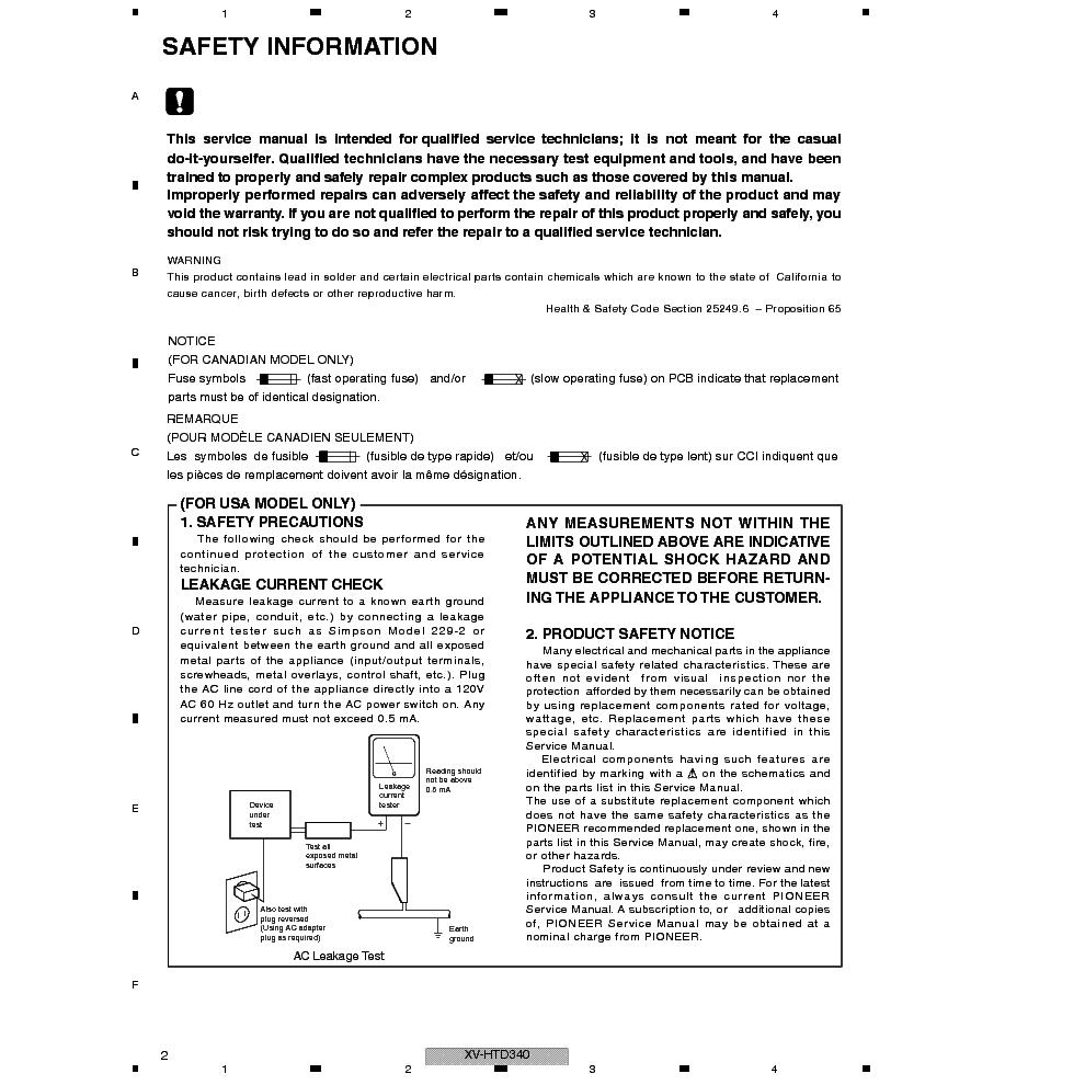 PIONEER SA560 - Service Manual Immediate Download