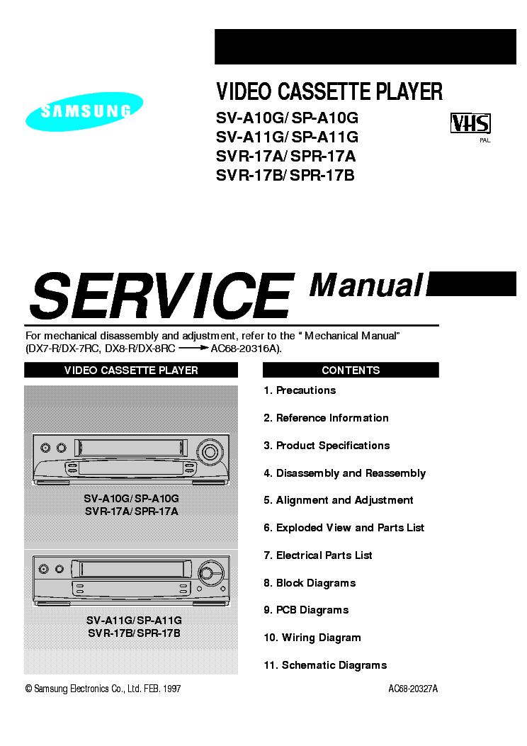 инструкция samsung svr 141
