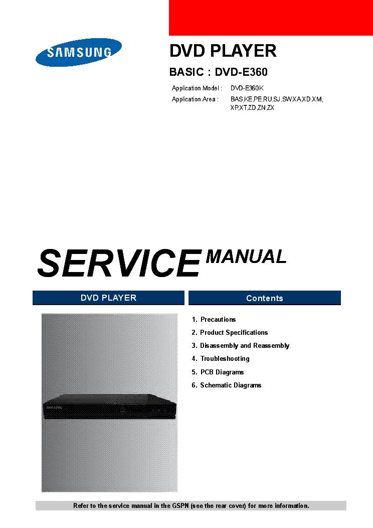 samsung dvd e360 service manual download schematics eeprom repair rh elektrotanya com DVD Model Player Samsung Dvd -C350manual DVD Model Player Samsung Dvd -C350manual