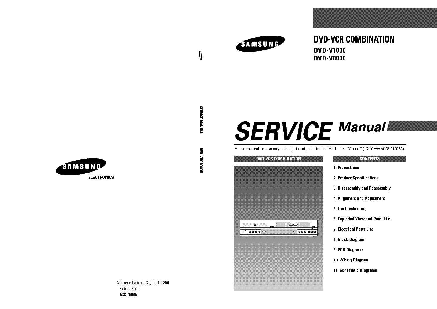 samsung dvd v1000 v8000 service manual download schematics eeprom rh elektrotanya com samsung dvd-hr725 service manual samsung dvd-r121 service manual
