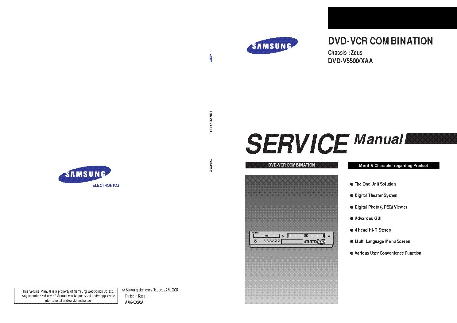 samsung dvd v5500 service manual download schematics eeprom rh elektrotanya com samsung c5500 manual samsung dvd v5500 service manual