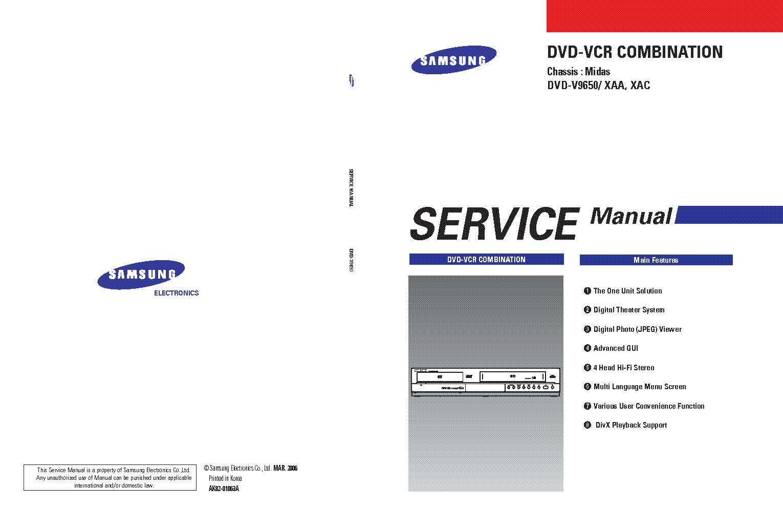 samsung dvd v9650 service manual download schematics eeprom rh elektrotanya com Samsung User Manual Guide Samsung Owner's Manual