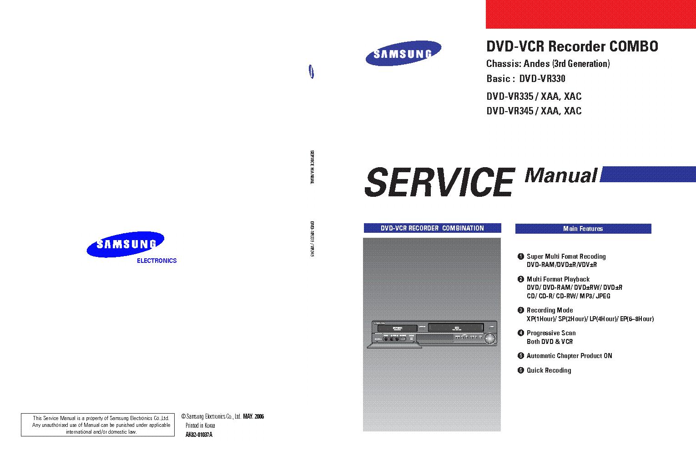Инструкция форум dvd vhs рекордер samsung dvd vr 330 dvd vr330 инструкция