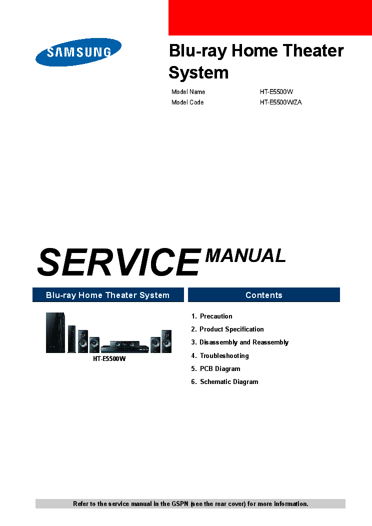 Samsung ht-e5500w-za service manual download, schematics, eeprom.