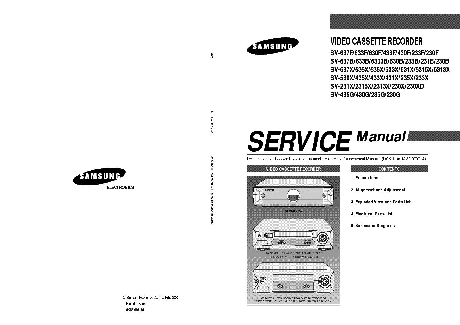 samsung svr 140 сервис мануал