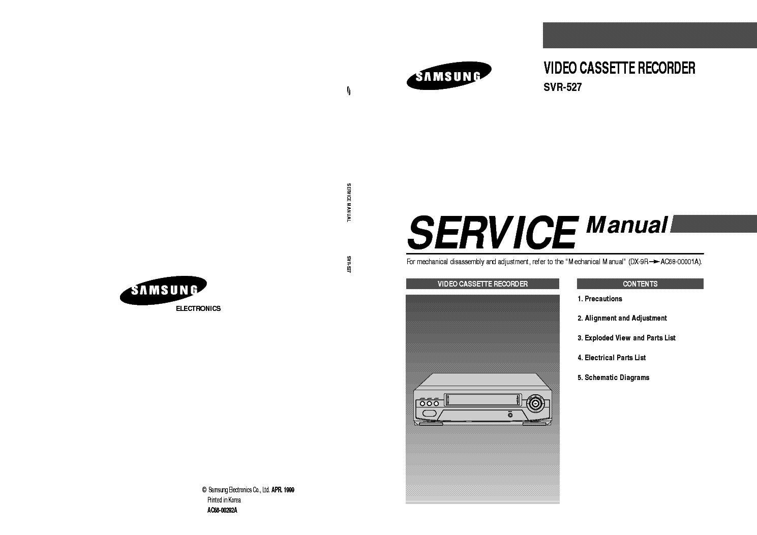 Схема видеокамеры Other SAMSUNG SVR-527.