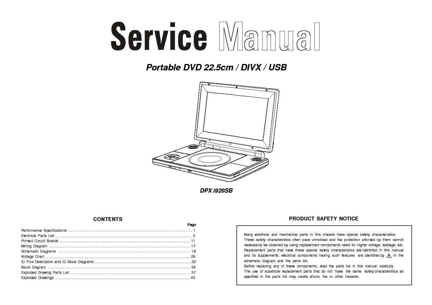 Scott Dpx I780tv Portable Dvd Service Manual Download Schematics Schematic Diagram I920sb