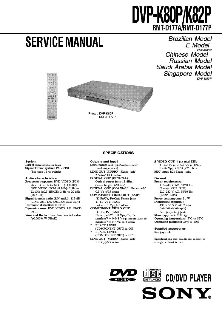 sony dvd k80p k82p service manual download schematics eeprom rh elektrotanya com sony tv manuals online sony tv manual pdf