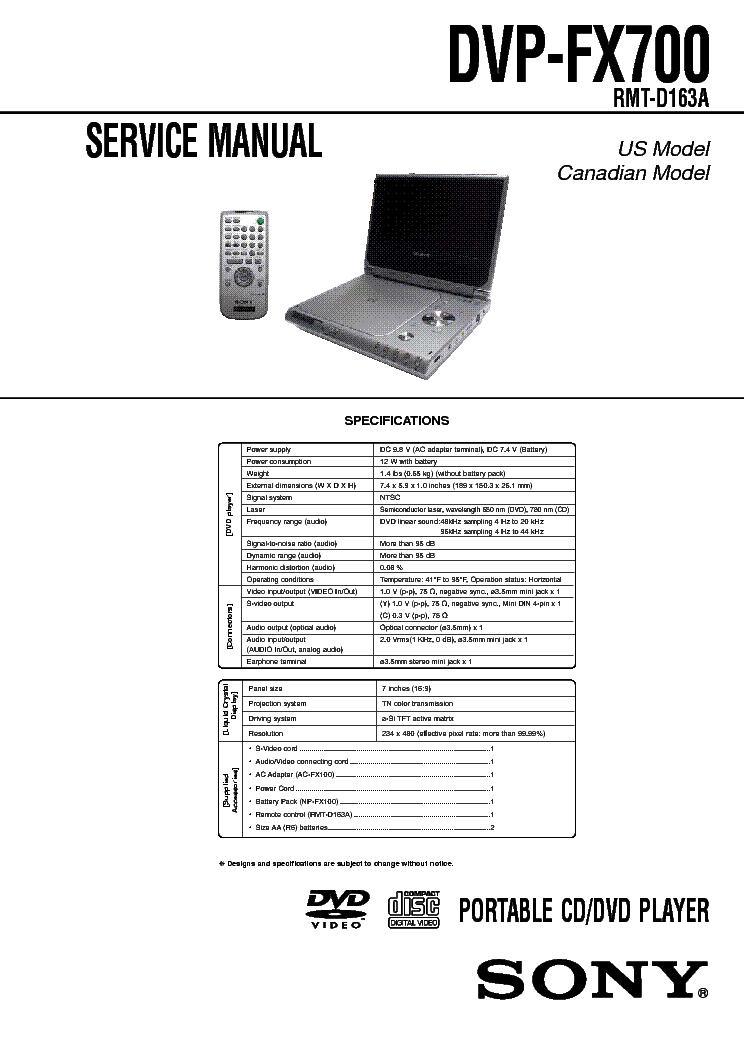 SONY DVP-FX1021 SONY DVP-FX700