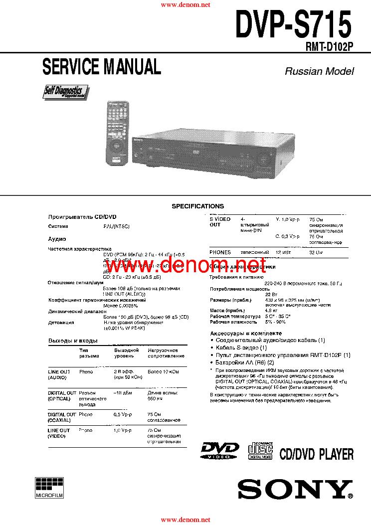 Инструкция по ремонту, сервис-мануал SONY (service manual), cхема электрическая принципиальная, schematic diagram...