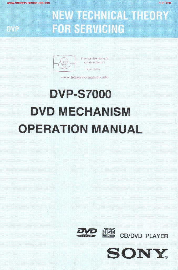sony dvp s7000 mechanism operation service manual download rh elektrotanya com fuji finepix s7000 service manual dvp-s7000 service manual