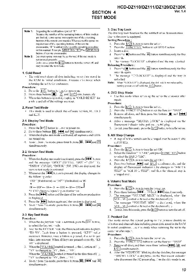 SONY HCD-DZ110,-DZ111,-DZ120