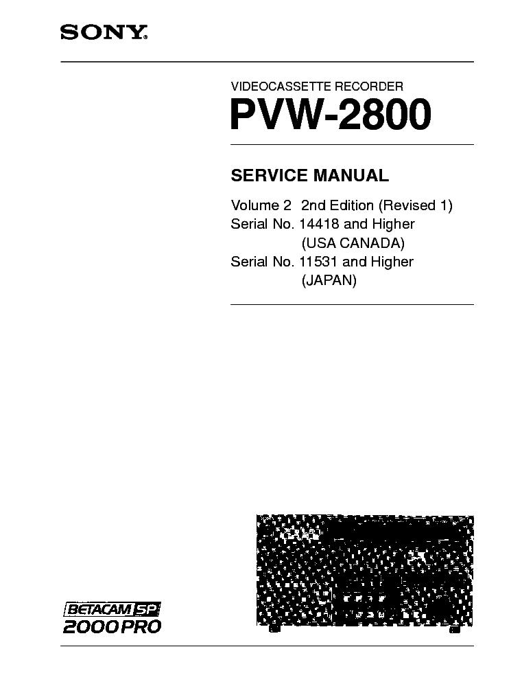 SONY PVW-2800 V2 R1