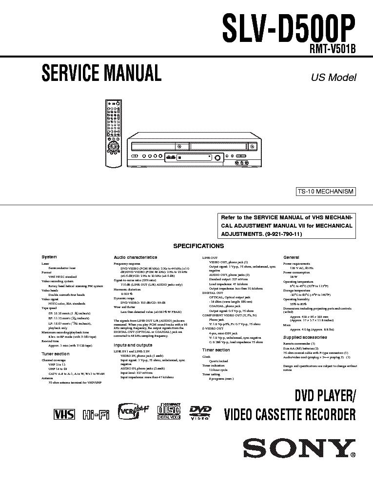 SONY SLV-D500P