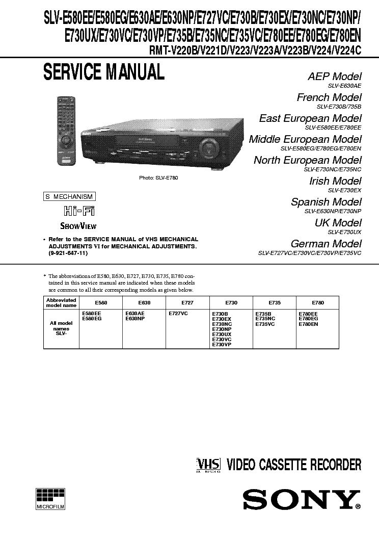 Sony slv-se230 vhs vcr video cassette recorder player slv-se230g.