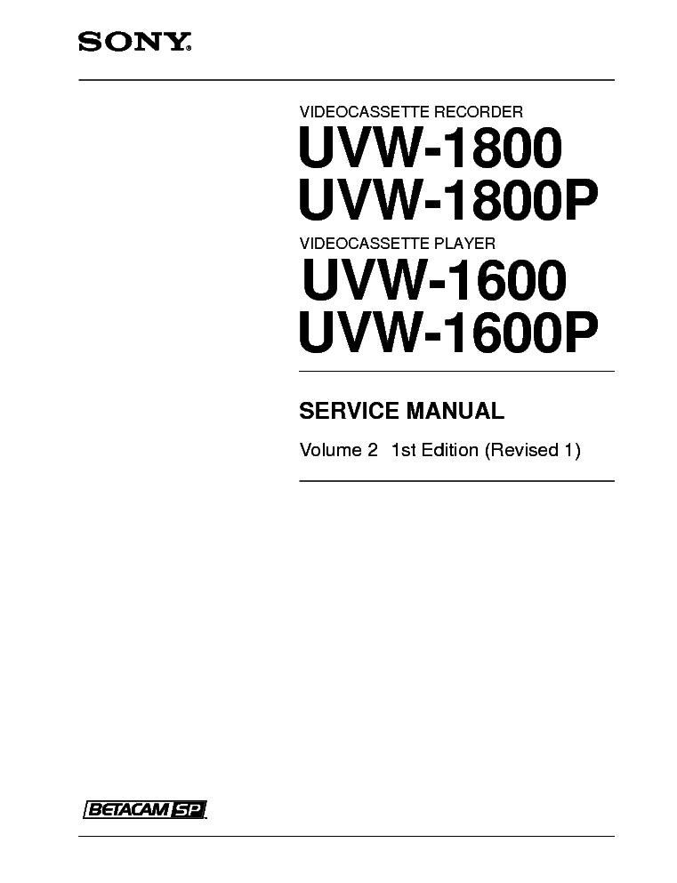 Pictures and images sony betacam sp uvw-1800 audiofanzine.