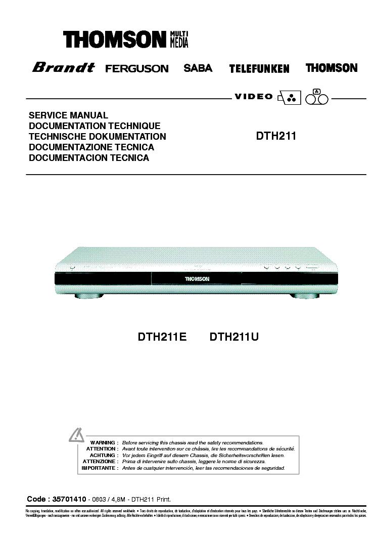 Dth8654e manual