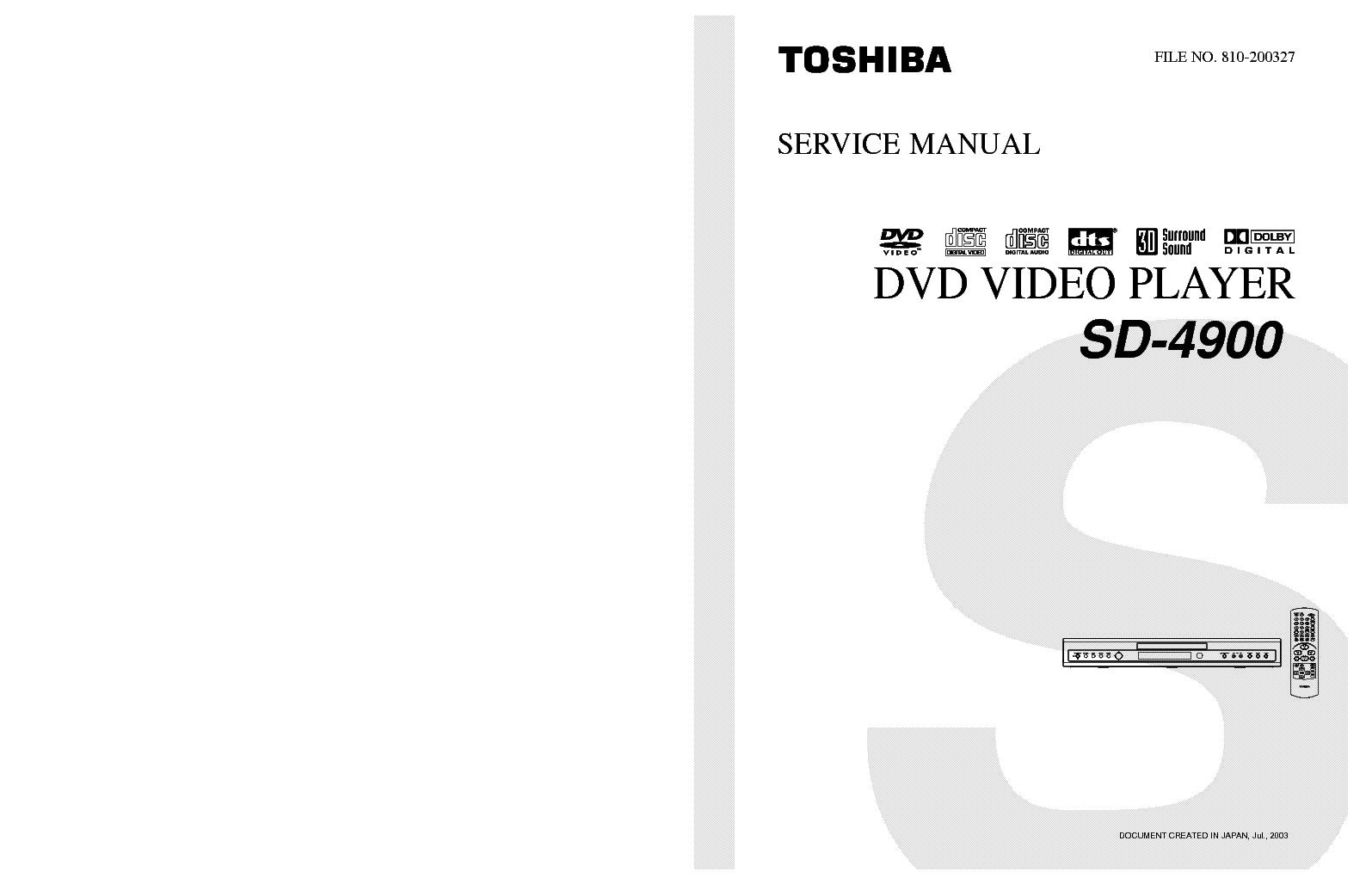 toshiba sd 4900 sm service manual download schematics eeprom rh elektrotanya com Toshiba TV Owners Manual For Toshiba TV Manuals