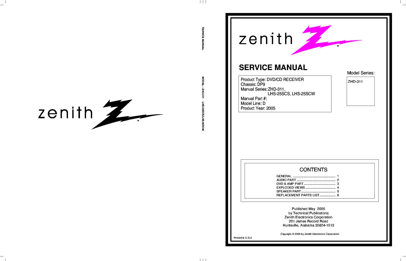 zenith zhd 311 service manual download schematics eeprom repair rh elektrotanya com Zenith Radio Model Numbers zenith carburetor repair manual
