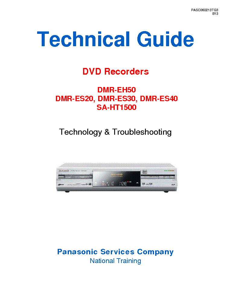 panasonic dmr eh50 es20 es30 es40 sa ht1500 technikal guide service rh elektrotanya com panasonic dmr-eh50 service manual panasonic dmr-eh50 manuale italiano