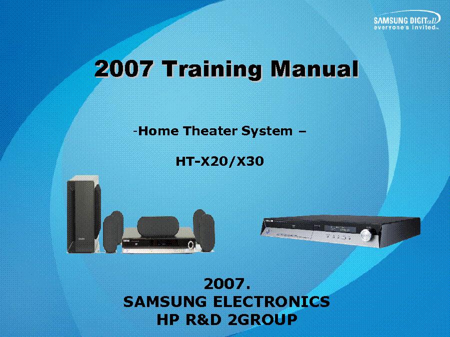 Samsung ht-x30 manual.