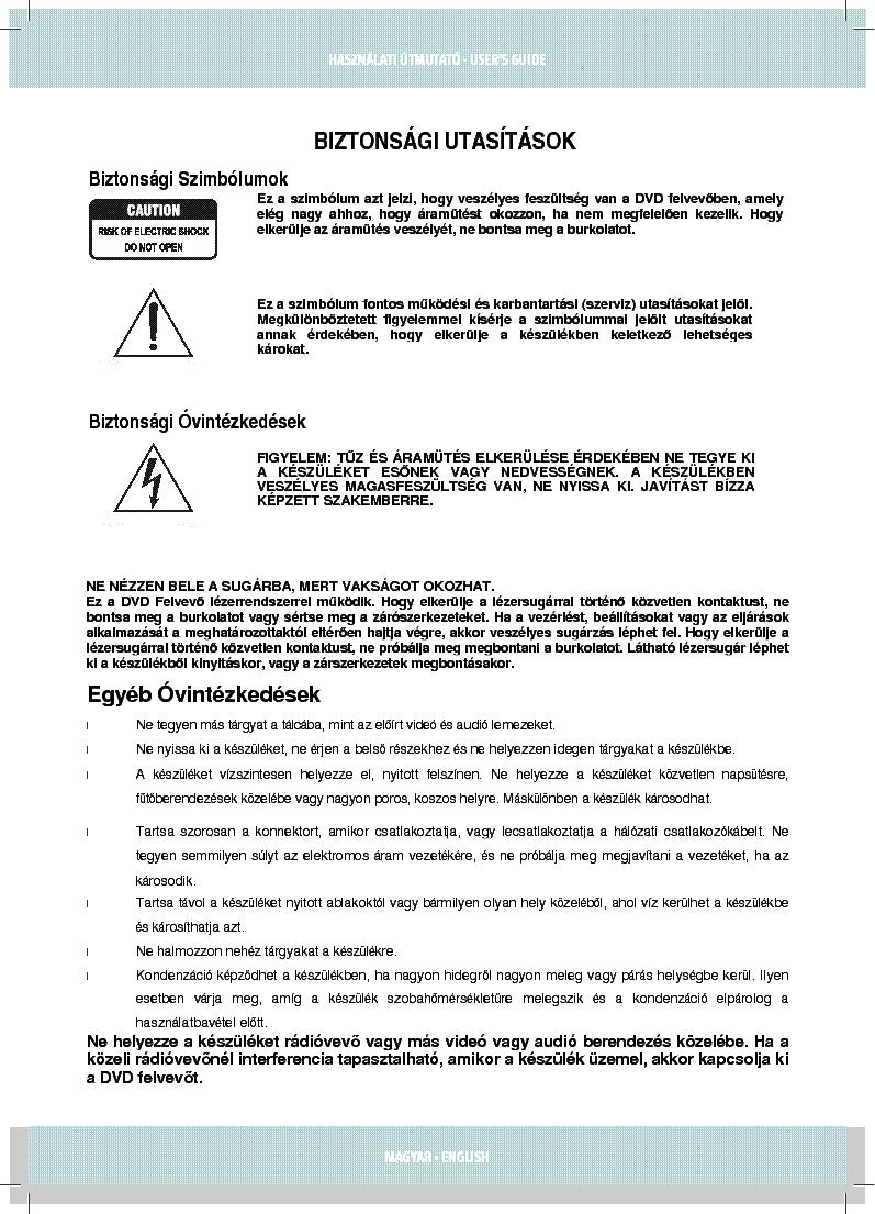 Dimarson Dm R916 User Manual Hun Service Manual Download