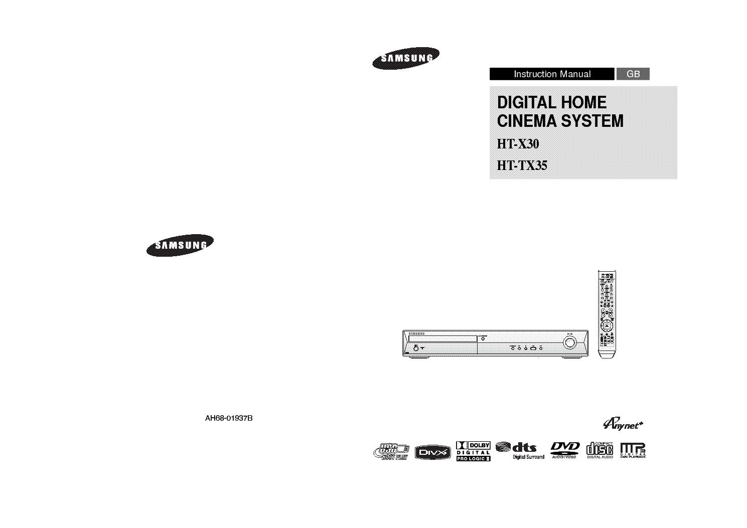 Samsung Ht X30 Service Manual Download  Schematics  Eeprom