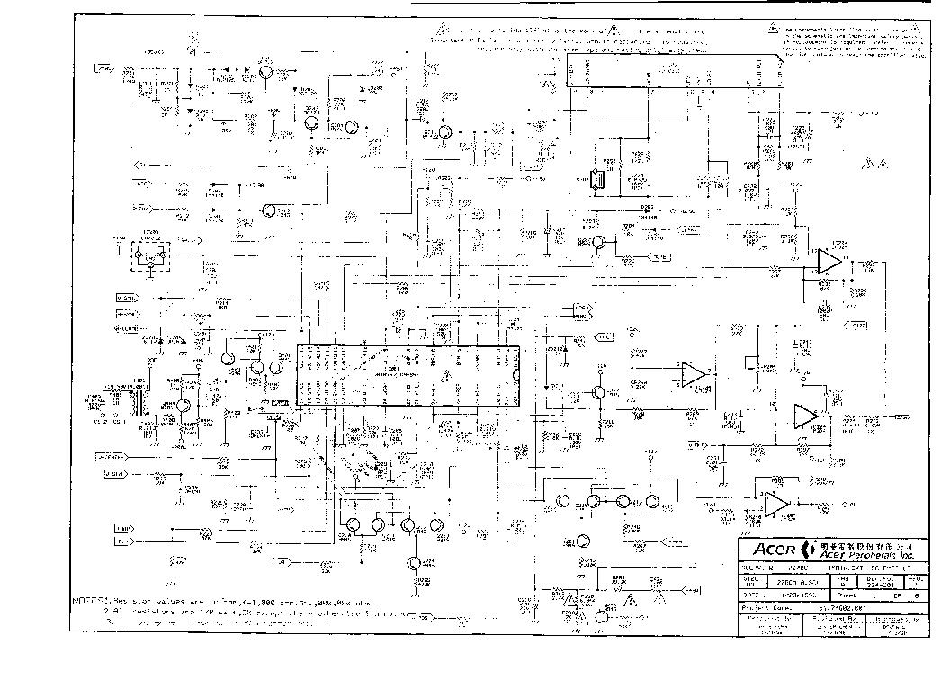 Схема монитор acer al1716