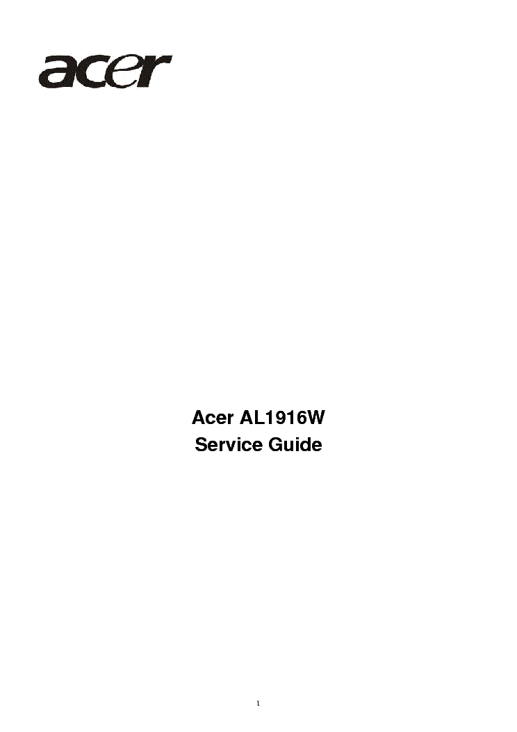 acer al1916w sm 2 service manual download schematics eeprom rh elektrotanya com acer al1916 manual Acer AL1916 Input Button