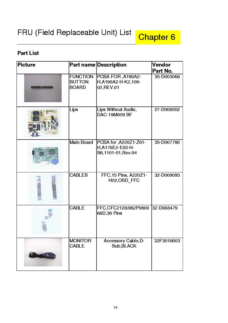 acer al2216w lcd monitor service manual download schematics eeprom rh elektrotanya com acer lcd monitor k242hl manual acer x233h lcd monitor manual