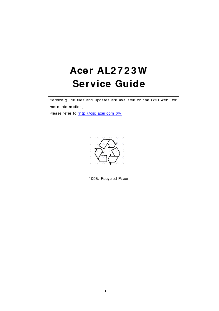 acer al2723w service manual download  schematics  eeprom