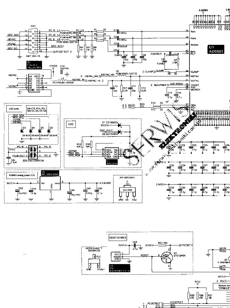 Схема монитора acer x202w