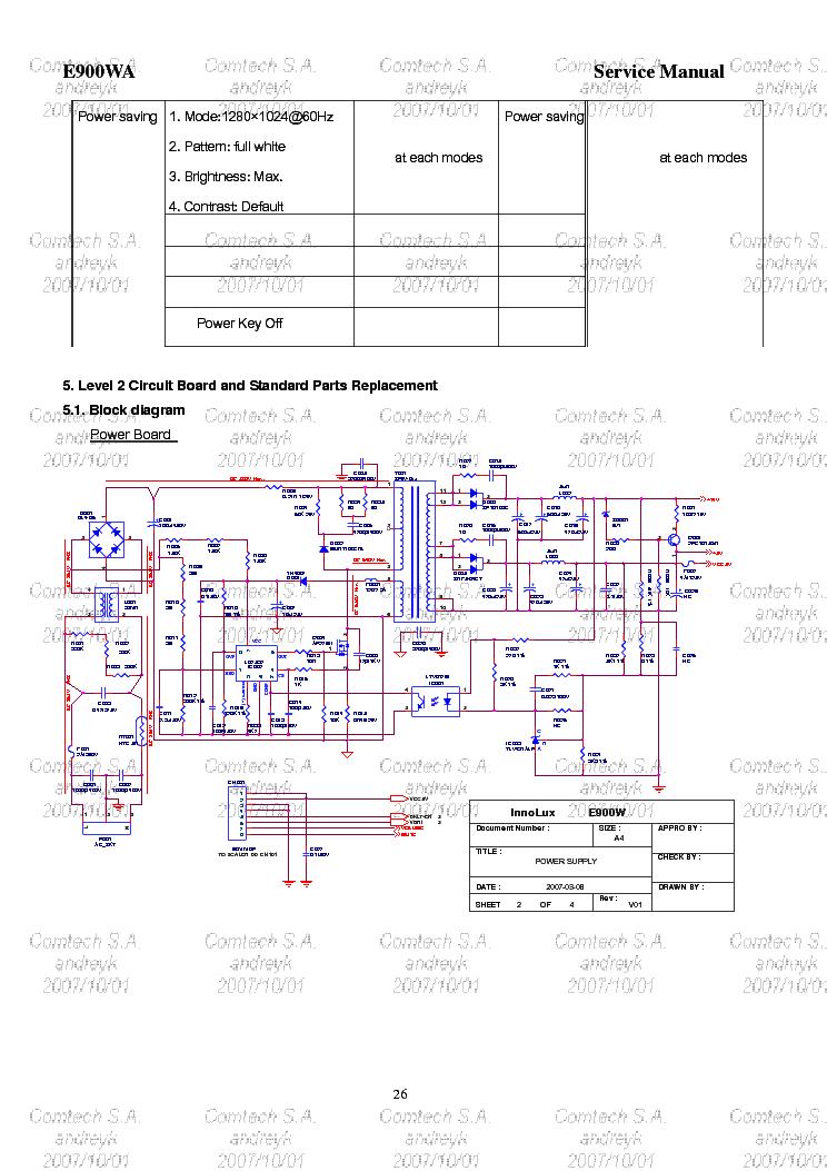 Схема блока питания acer al1716 a